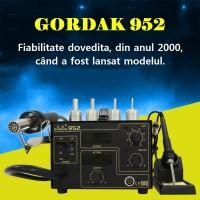 Statie de lipit cu aer cald si letcon Gordak 952